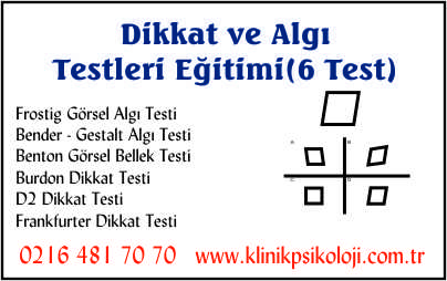 Dikkat ve Algı Testleri Eğitimi